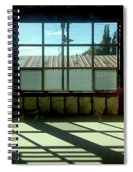 Cubed. #squares #shadows #windows Spiral Notebook