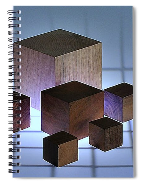 Cubes Spiral Notebook