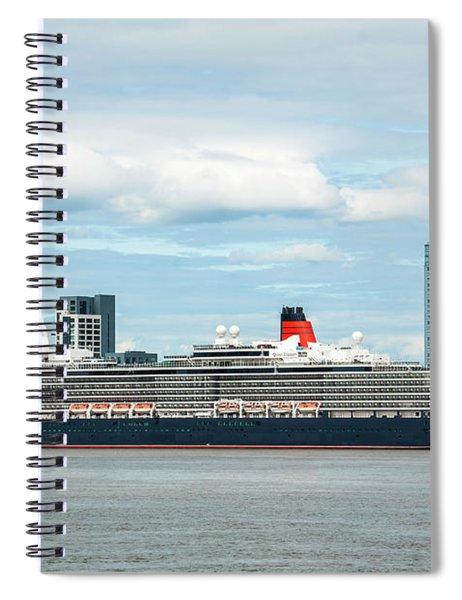 Cunard's Queen Elizabeth At Liverpool Spiral Notebook