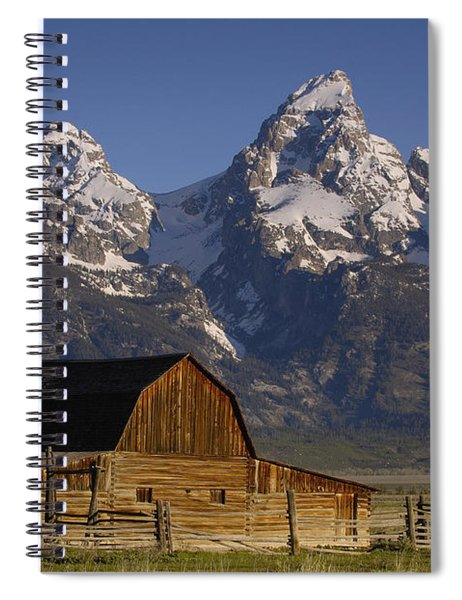 Cunningham Cabin In Front Of Grand Spiral Notebook