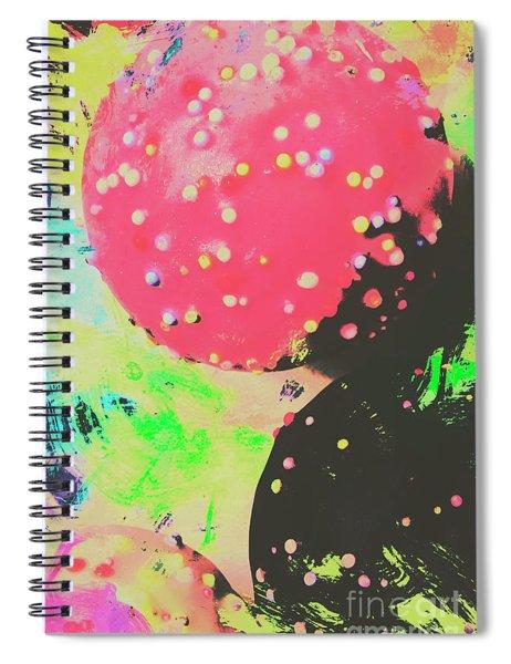 Cup Cake Birthday Splash Spiral Notebook
