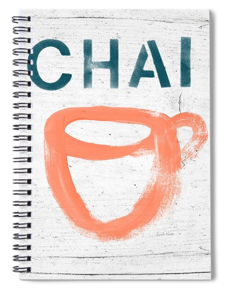 Cup Of Chai- Art By Linda Woods Spiral Notebook