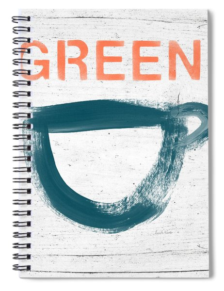 Cup Of Green Tea- Art By Linda Woods Spiral Notebook