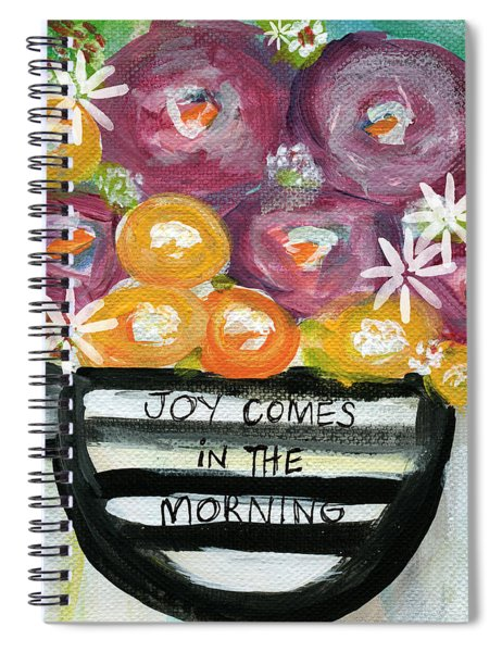 Cup Of Joy 2- Contemporary Floral Painting Spiral Notebook