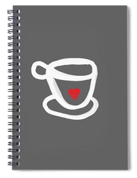 Cup Of Love- Shirt Spiral Notebook