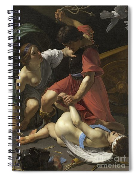 Cupid Chastised Spiral Notebook