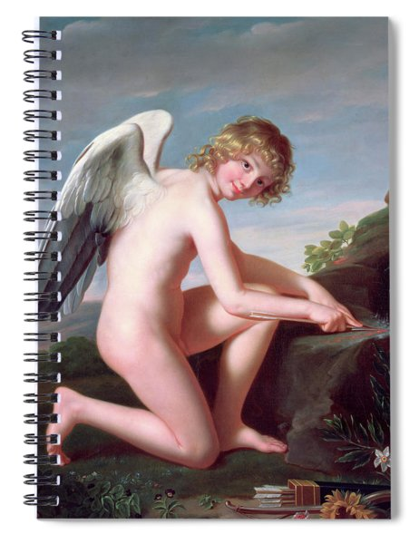 Cupid Sharpening His Arrows Spiral Notebook