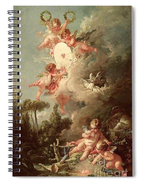 Cupids Target Spiral Notebook