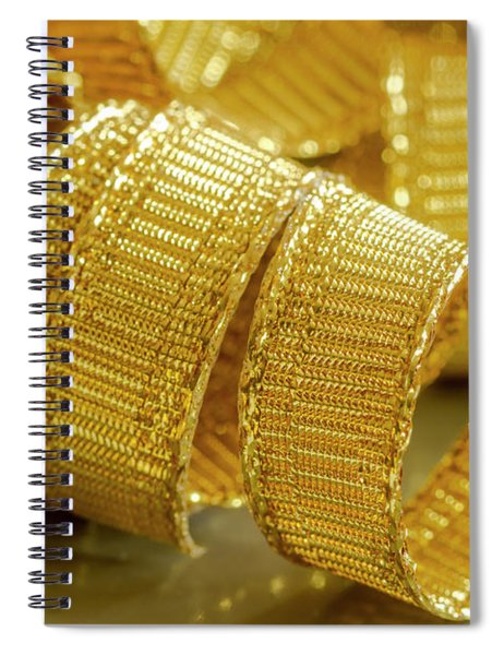 Curls Of Gold Spiral Notebook