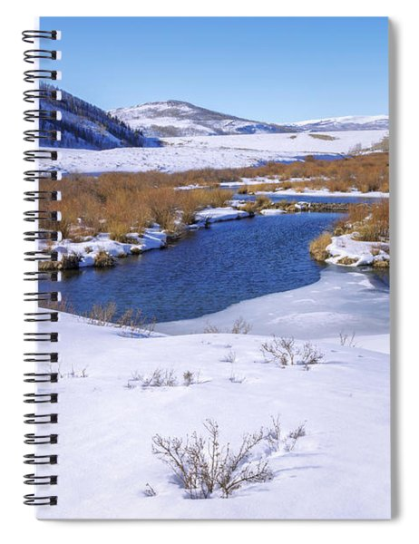 Currant Creek On Ice Spiral Notebook