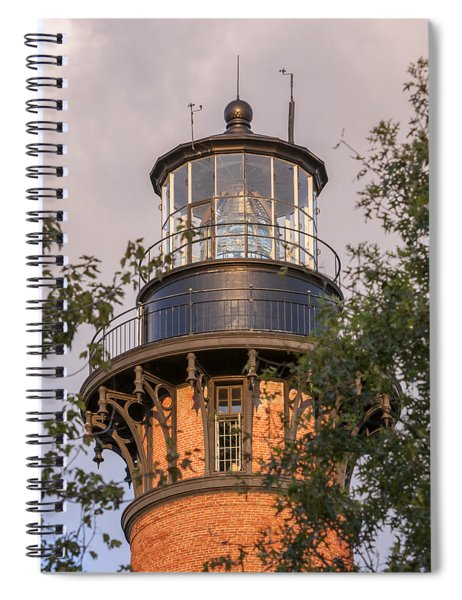 Currituck Beach Lighthouse Close-up Spiral Notebook