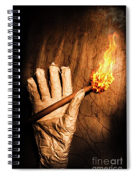 Curse Of The Tomb Robber Spiral Notebook
