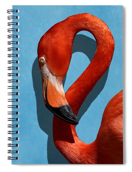 Curves, A Head - A Flamingo Portrait Spiral Notebook
