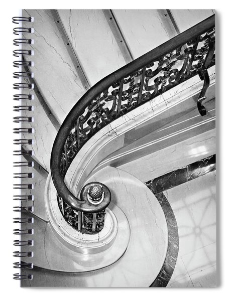 Curves And Light Spiral Notebook