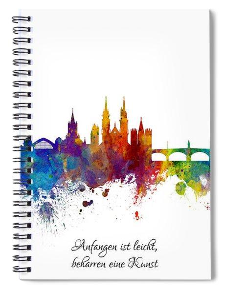 Custom Artwork Basel Switzerland Skyline Spiral Notebook