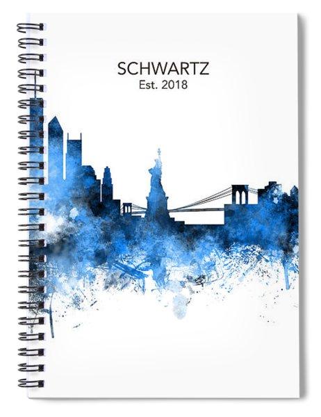 Custom New York Skyline Spiral Notebook