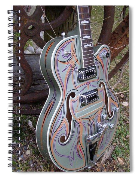 Custom Painted Giutar Spiral Notebook