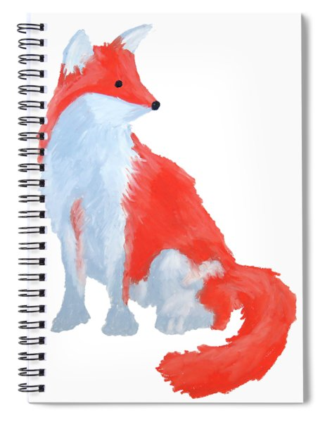 Cute Fox With Fluffy Tail Spiral Notebook