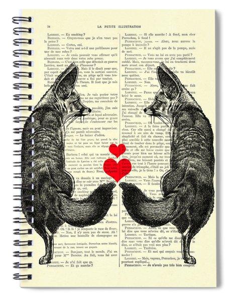 Cute Foxes Spiral Notebook