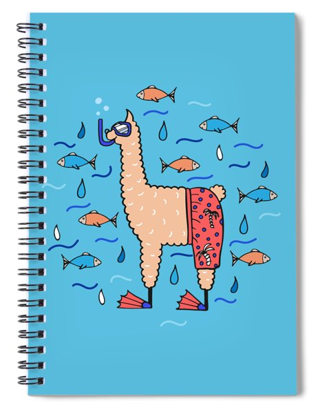 Cute Hand-drawn Illustration Of A Lama Spiral Notebook