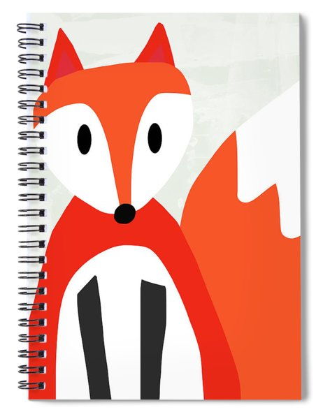 Cute Red And White Fox- Art By Linda Woods Spiral Notebook