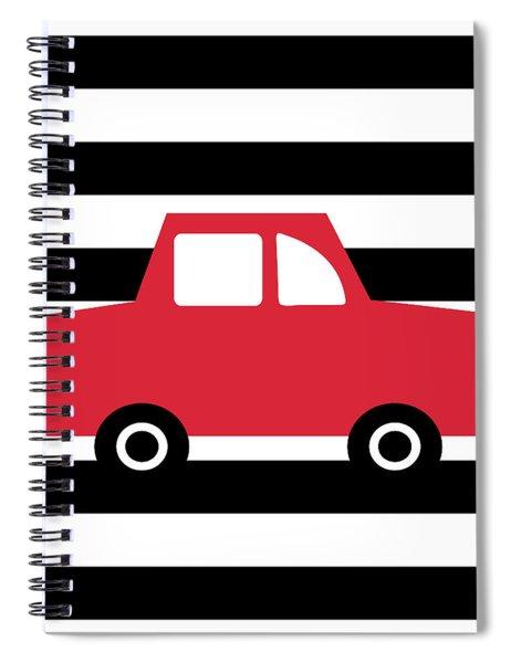 Cute Red Car- Art By Linda Woods Spiral Notebook