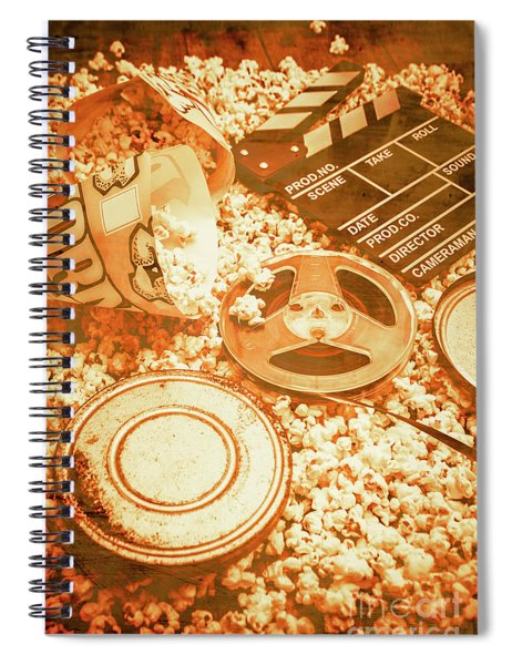 Cutting A Scene Of Vintage Film Spiral Notebook
