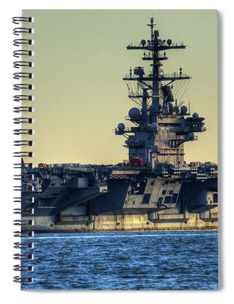 Cvn77 Bush Aircraft Carrier Spiral Notebook