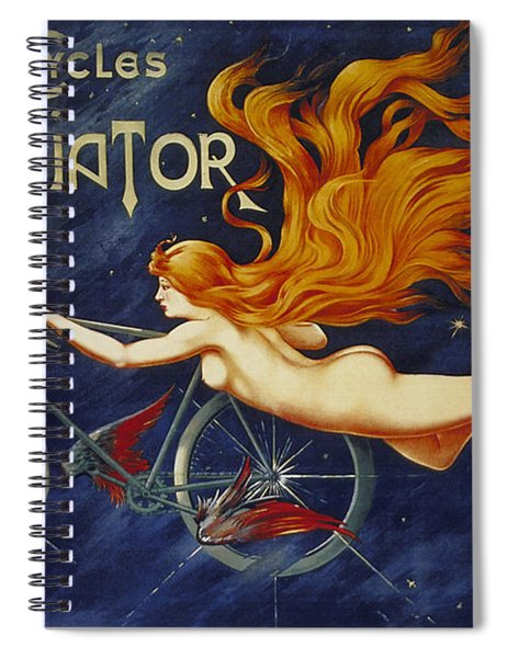 Cycles Gladiator  Vintage Cycling Poster Spiral Notebook