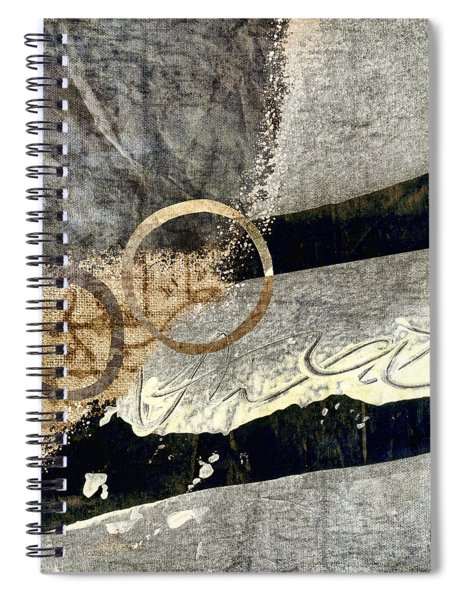 Cyclists Abstract Spiral Notebook