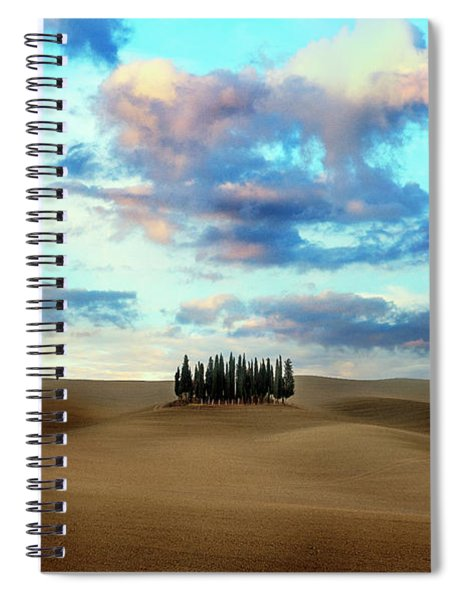 Cypress Trees Of San Quirico D'orcia Of Tuscany Spiral Notebook
