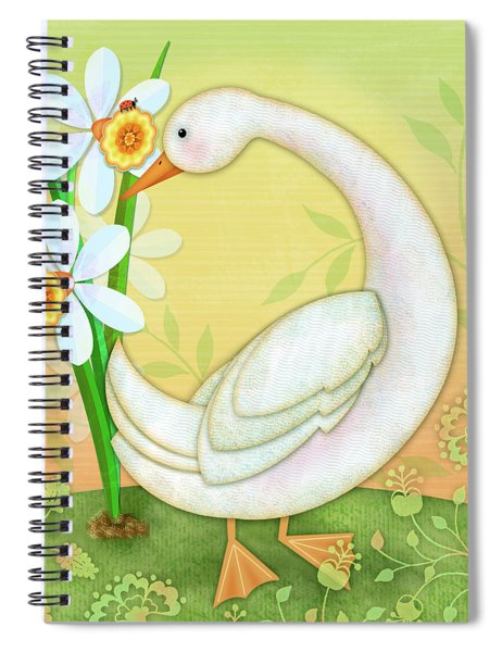 D Is For Duck And Daffodils Spiral Notebook
