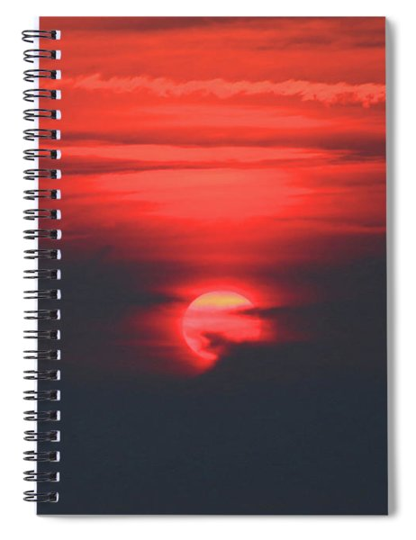 D7b6398 Sunrise On Last Day Of Wine Country Fires H Spiral Notebook