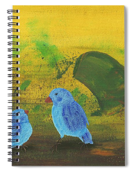Spiral Notebook featuring the painting Daddy, Hungry by Manuel Sueess