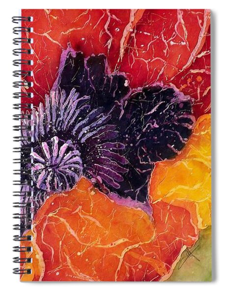 Dad's Poppy Spiral Notebook