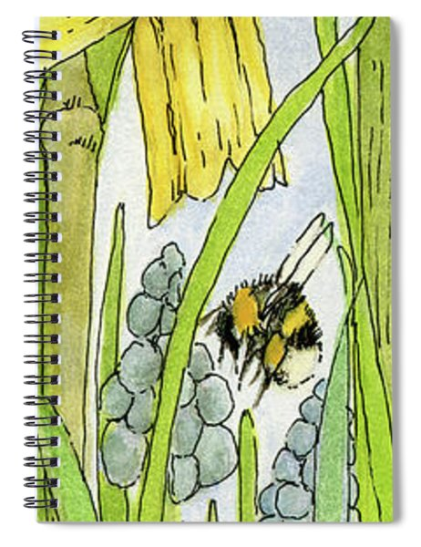 Daffodils And Bees Spiral Notebook