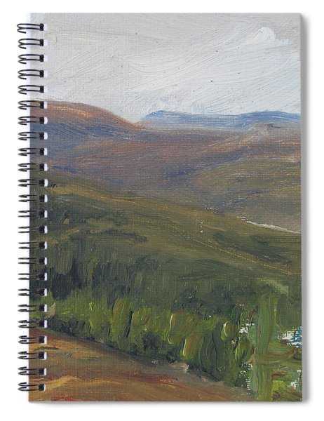Dagrar Over Salenfjallen - Shifting Daylight Over Distant Horizon 1 Of 10_0034 50x50 Cm Spiral Notebook