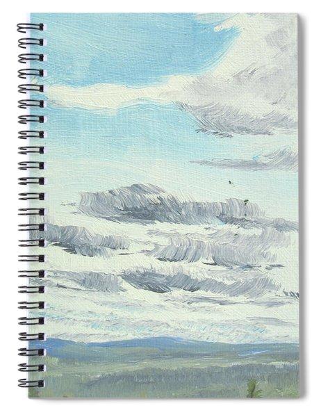 Dagrar Over Salenfjallen- Shifting Daylight Over Distant Horizon 10 Of 10_0029 Spiral Notebook