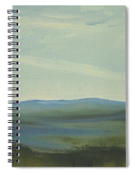 Dagrar Over Salenfjallen- Shifting Daylight Over Distant Horizon 6 Of 10 Spiral Notebook