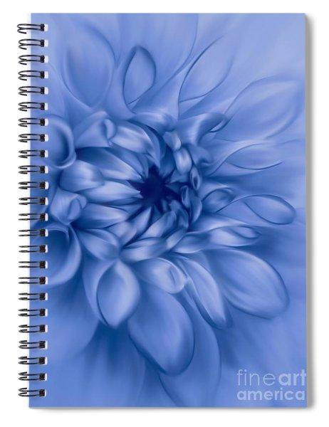 Dahlia Cyanotype Spiral Notebook