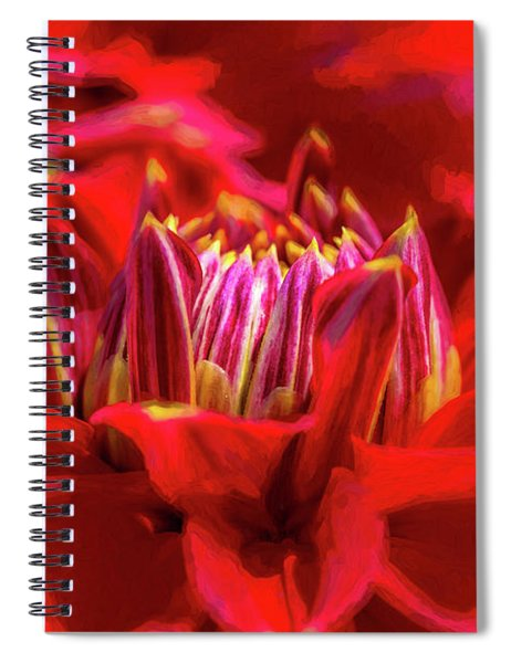 Dahlia Study 1 Painterly Spiral Notebook