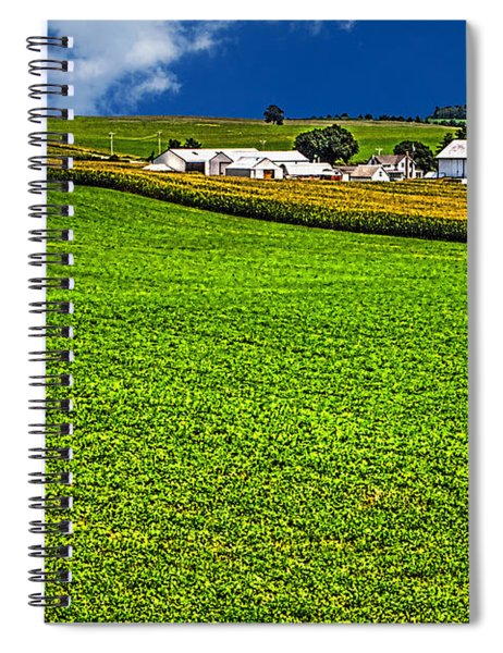 Dairy Farm Dane County Wisconsin Spiral Notebook