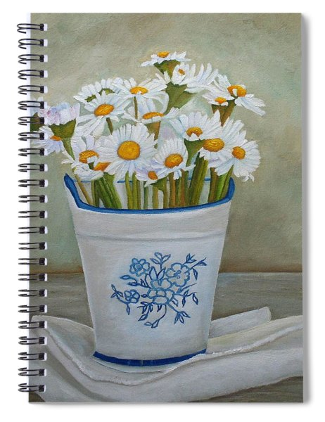 Daisies And Porcelain Spiral Notebook