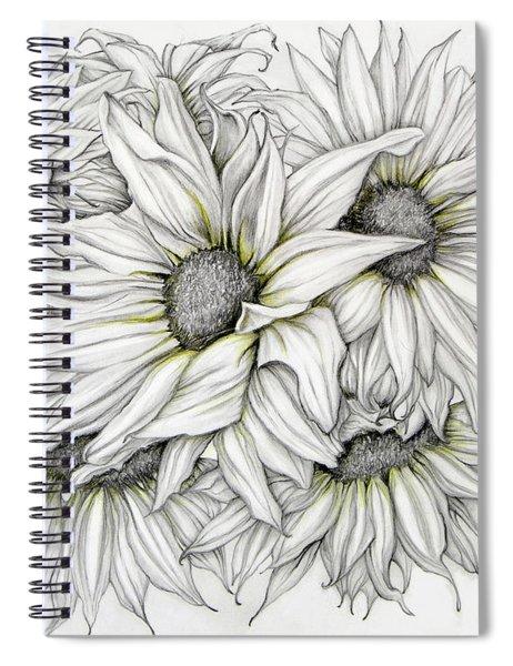 Sunflowers Pencil Spiral Notebook