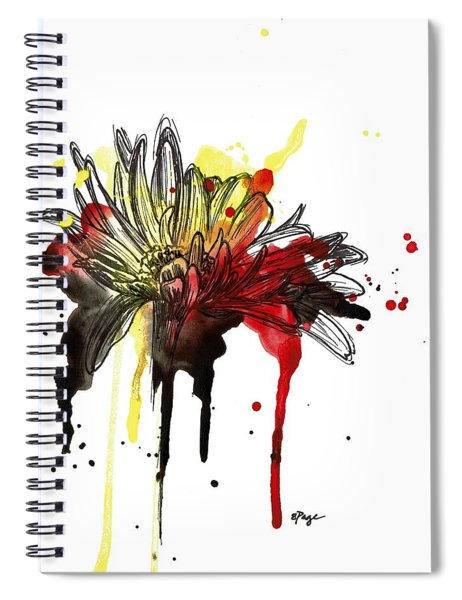 Daisy Dripping Spiral Notebook
