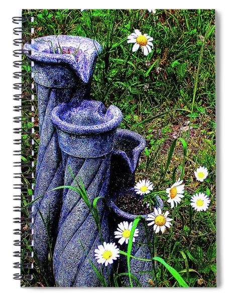 Daisy Fountain Spiral Notebook