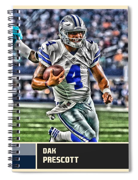 Dak Prescott Dallas Cowboys Spiral Notebook