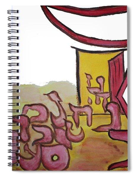 Dalet An Open Door Ab16 Spiral Notebook