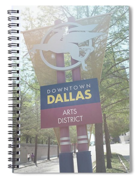 Spiral Notebook featuring the photograph Dallas Arts District by Robert Bellomy