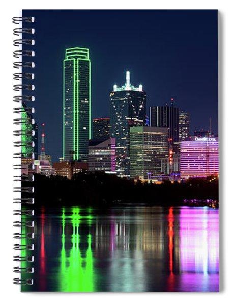 Dallas Colorful Night 52716 Spiral Notebook
